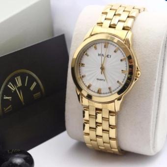 Chỗ bán Đồng hồ nữ Halei 501 dây thép mặt trắng chống nước – N1736