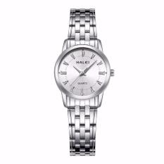 Đồng hồ nữ Halei 502 dây day trắng mặt trắng