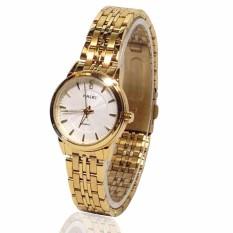 Đồng hồ nữ HALEI 554 LYMHOME dây thép vàng cao cấp