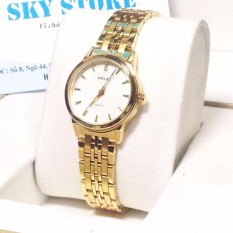 Đồng hồ nữ HALEI 5599 LYMHOME dây thép vàng cao cấp