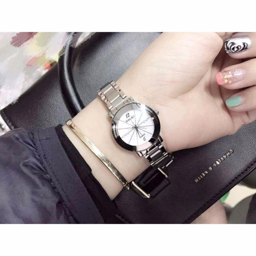 Đồng hồ nữ Halei 590 màu trắng cực xinh