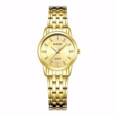 Đồng hồ nữ Halei dây kim mặt vàng sang trọng quý phái