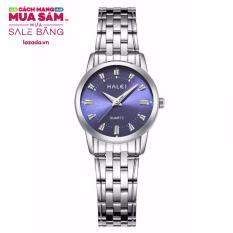 Giá KM Đồng hồ nữ HALEI dây thép vạch giờ thời trang G02