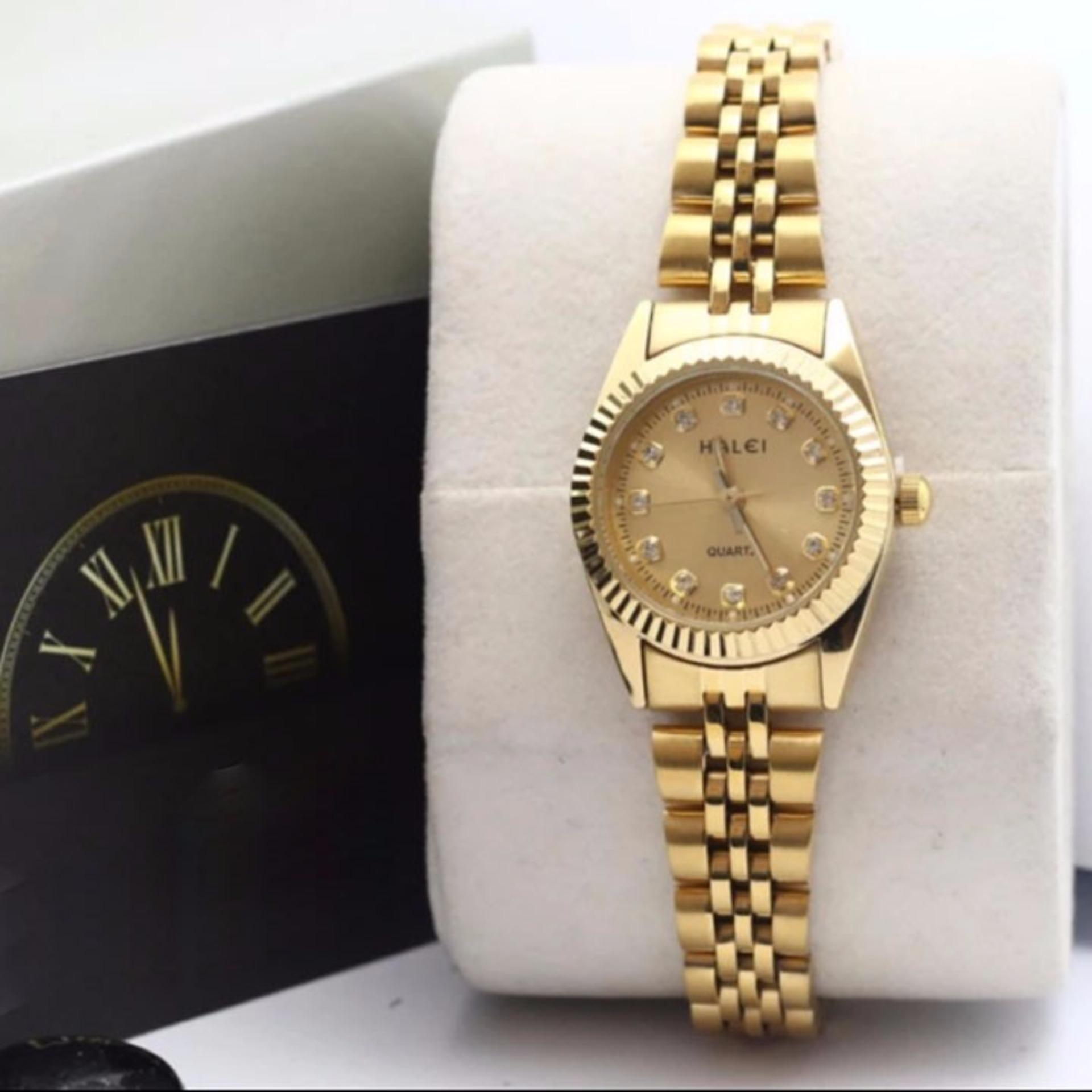 Đồng hồ nữ Halei HL168 V6 màu vàng chống nước