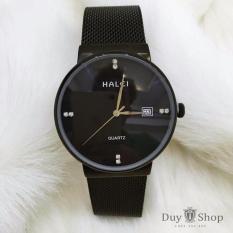 Đồng hồ nữ Halei HL172 V6 dây thép đen chống nước