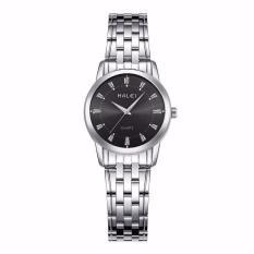 Đồng hồ nữ Halei mã 502 dây trắng mặt đen