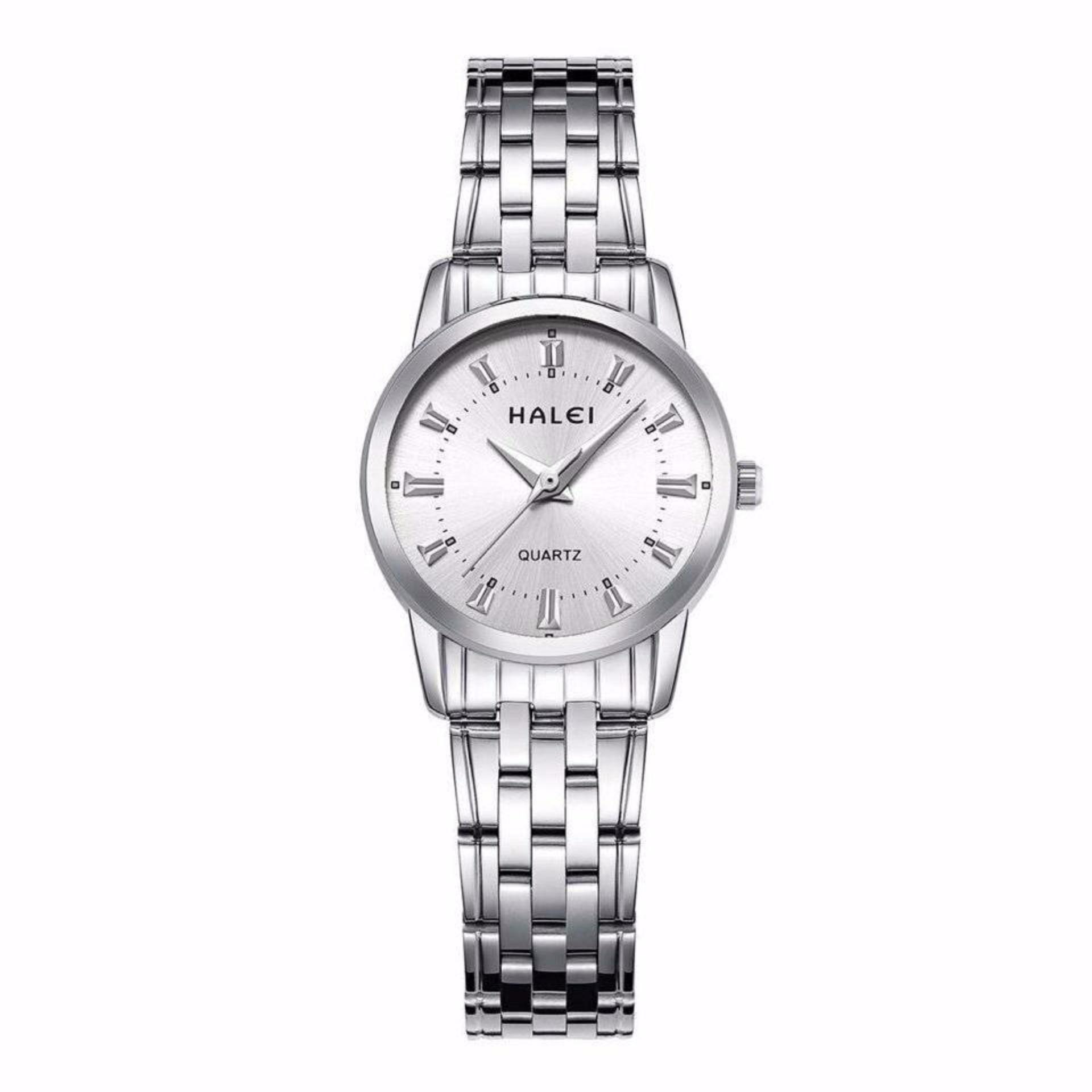 Đồng hồ nữ Halei mã 502 màu trắng cực đẹp