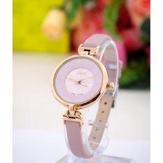 Đồng hồ nữ JULIUS Hàn Quốc dây da J1068 (Hồng)