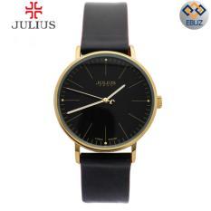 Đồng hồ nữ JULIUS Hàn Quốc dây da JA814 đen