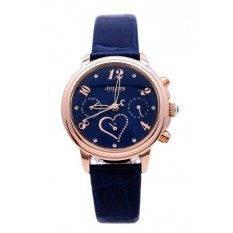 Đồng hồ nữ JULIUS Hàn Quốc dây da JU1016 (Xanh đen)