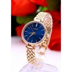 Đồng hồ nữ JULIUS Hàn Quốc JU1217LP (Đồng mặt xanh)