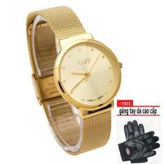 Đồng hồ Nữ Julius JU1052 siêu mỏng (vàng)+ tặng găng tay cao cấp