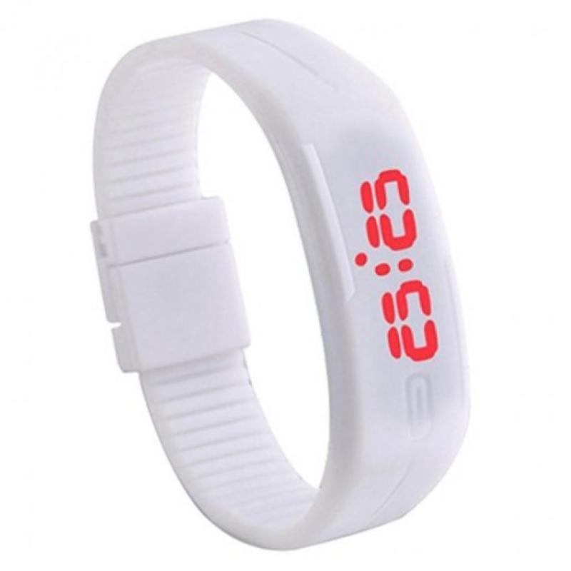 Nơi bán Đồng hồ nữ LED dây nhựa TTP-15(Trắng)