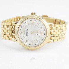 Giá KM Đồng hồ nữ mạ vàng cao cấp Halei HL333 (Mặt trắng)