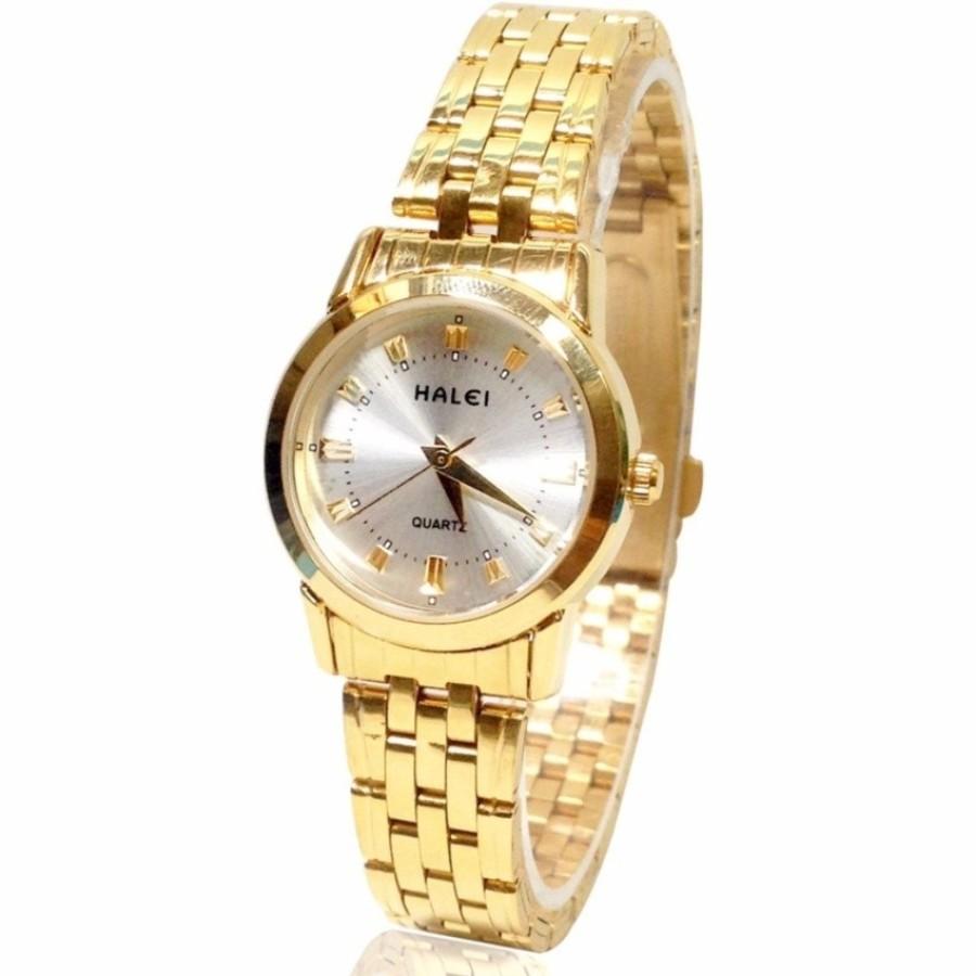 Đồng hồ nữ mạ vàng cao cấp Halei HL4404