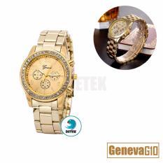 Đồng hồ nữ mạ vàng đính full hạt Geneva G10 (Vàng)