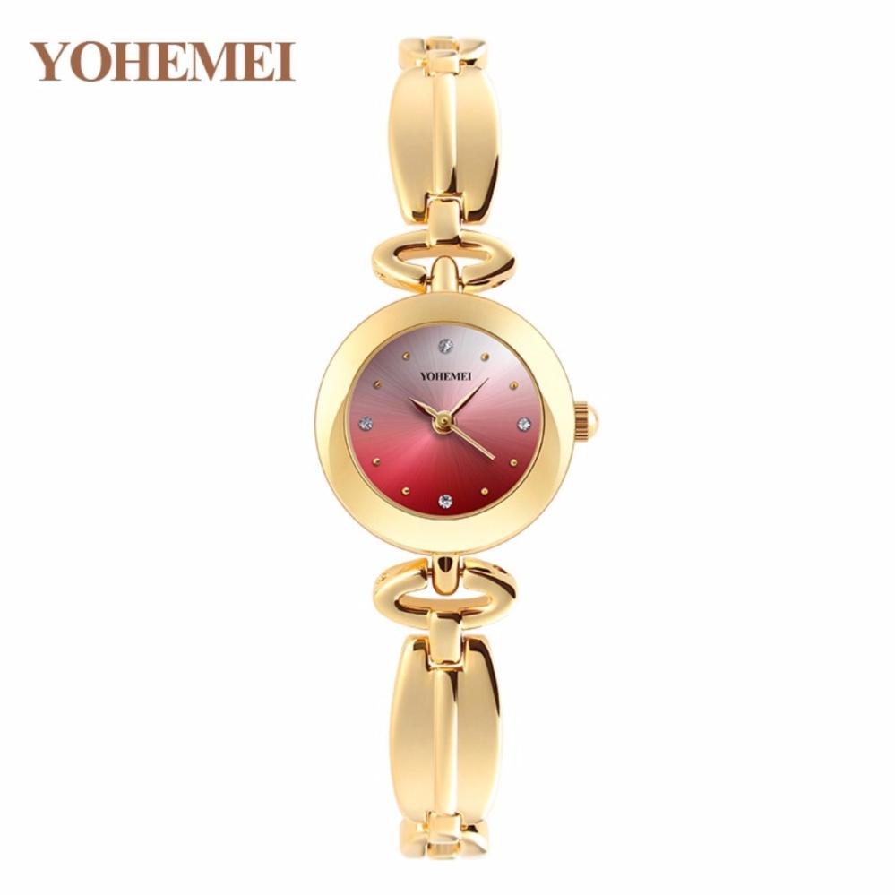 [HCM]Đồng hồ nữ mạ vàng mặt nhỏ thời trang