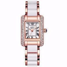 Đồng hồ nữ mặt đính đá Japan Movt ASJ121 , Full box tặng kèm vòng đeo tay – Viền vàng