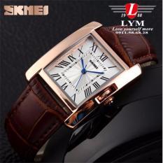 Đồng hồ nữ mặt vuông dây da SKMEI cao cấp sknu1988