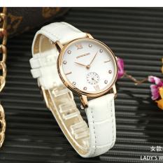 Báo Giá Đồng hồ nữ SANDA JAPAN – dây trắng, tặng kèm vòng tay thạch anh