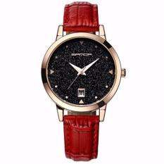 Đồng hồ nữ SANDA JAPAN SAKT194 Mặt kim tuyến siêu sang – tặng kèm dây chuyền tỳ hưu