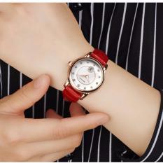 Giá Niêm Yết Đồng hồ nữ SANDA Japan Movt dây da cao cấp P198- dây đỏ + Tặng kèm vòng tay