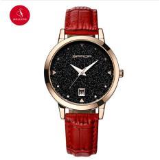 Đồng hồ nữ SANDA P194 cao cấp 34mm (Đỏ) + Tặng Hộp đựng đồng hồ thời trang & Pin