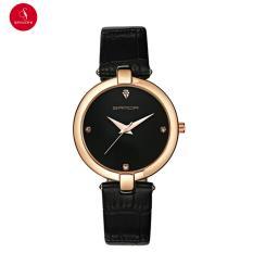 Đồng hồ nữ SANDA P196 cao cấp 34mm (Đen) + Tặng hộp đựng đồng hồ thời trang & Pin