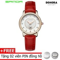 Đồng hồ nữ Sanda TI1002 dây da hiển thị Analog