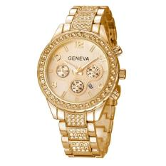 Đồng hồ nữ siêu cấp GENEVA đính đá + Tặng kèm vòng đeo tay thạch anh