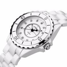 Đồng hồ nữ SINOBI 9699 dây đá trắng + tặng pin nhật