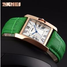 Đồng hồ nữ Skmei 1085 dây da màu xanh