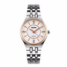 Đồng hồ nữ Skmei 1133 màu trắng dây inox cực xinh