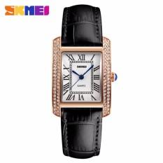 Đồng hồ nữ Skmei 1281 dây da đen gắn đá cực xinh
