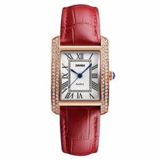 Đồng hồ nữ Skmei 1281 dây da gắn đá