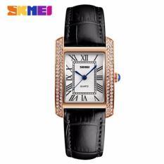 Đồng hồ nữ Skmei 1281 dây da màu đen