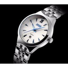 Đồng hồ nữ Skmei 9071 (Silver mặt trắng kim xanh)