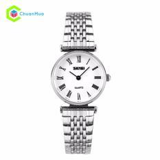 Đồng hồ Nữ Skmei 9105 Ultrathin 2 kim Dây Thép Bạc – Mã: DHA429