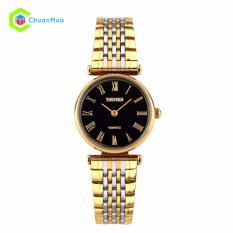 Đồng hồ Nữ Skmei 9105 Ultrathin 2 kim Dây Thép Đờmi – Mã: DHA429