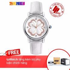 Đồng hồ nữ Skmei 9159- dây da thời trang-tpWatch + tặng kèm bộ phụ kiên