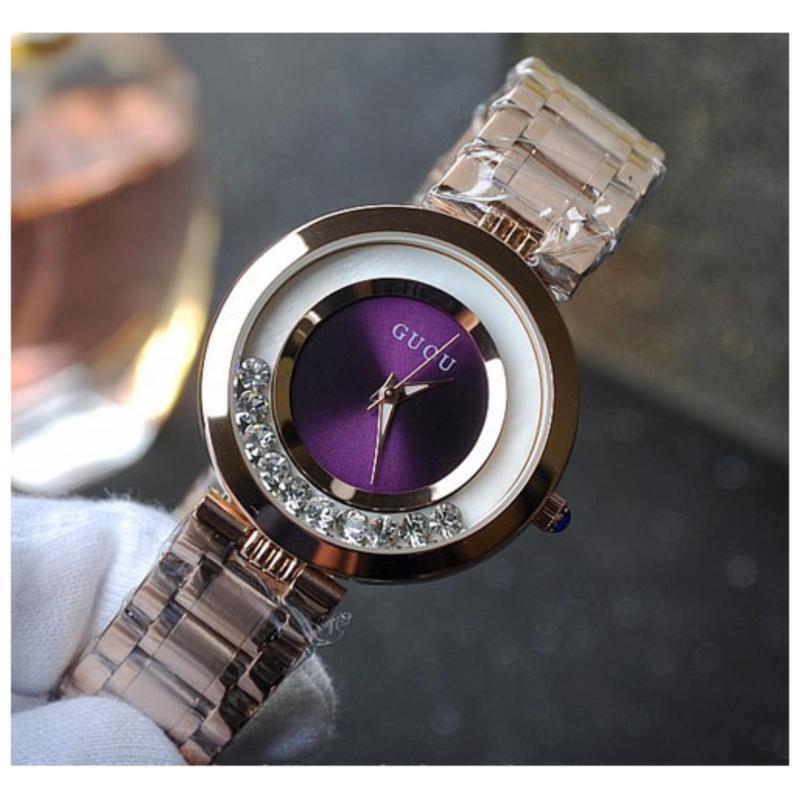 Nơi bán Đồng hồ nữ thép mạ vàng không gỉ cao cấp GUOU 8039