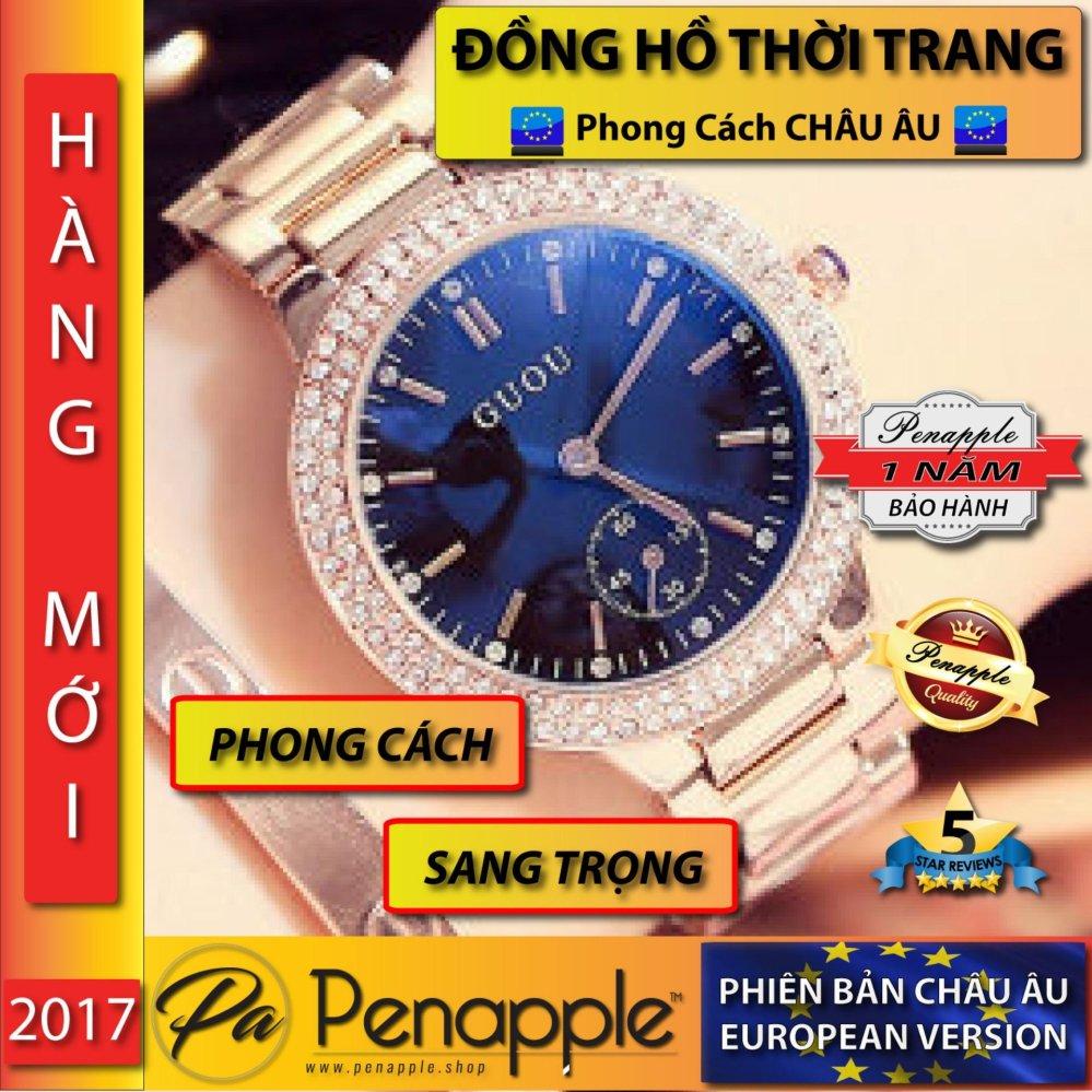 Đồng hồ nữ thời trang dây kim loại GUOU thiết kế theo Phong cách Châu Âu – sản xuất tại Hồng Kông – HÃNG PHÂN PHỐI CHÍNH THỨC
