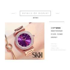 Đồng hồ nữ viền đá dây thép không gỉ cao cấp Guou G8892 màu tím