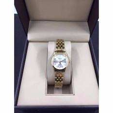 Đồng hồ nữHalei mã 502 dây vàng mặt trắng
