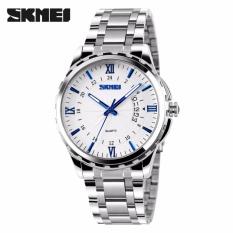 Đồng hồ Skmei 9071 màu trắng kim xanh