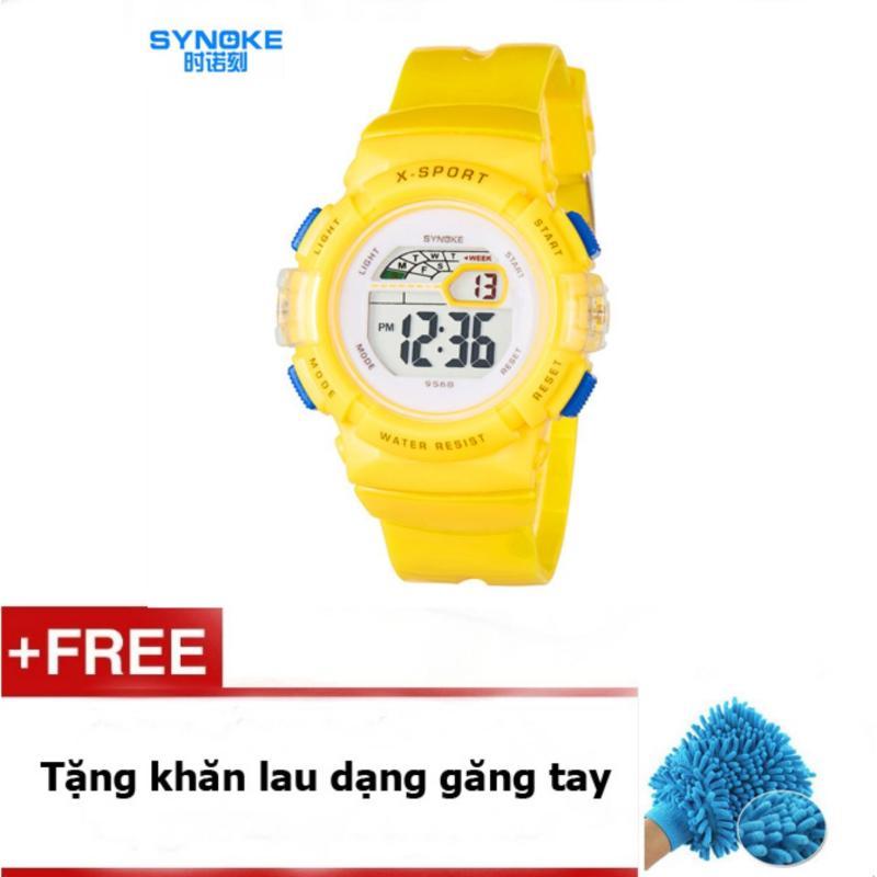 Đồng hồ thể thao cho bé gái Synoke 9568 (Vàng) + quà tặng bán chạy