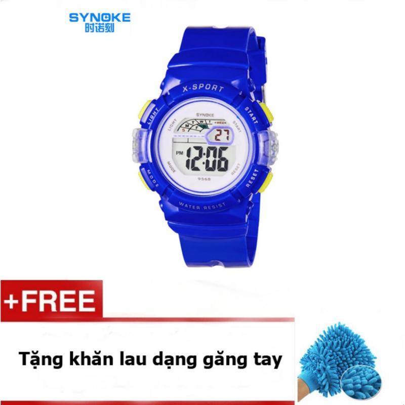 Đồng hồ thể thao cho bé gái Synoke 9568 (Xanh) + quà tặng bán chạy