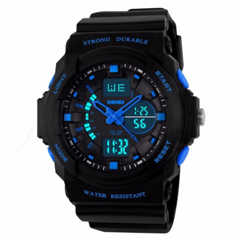 Đồng hồ thể thao chống nước SKMEI 0955 xanh đen