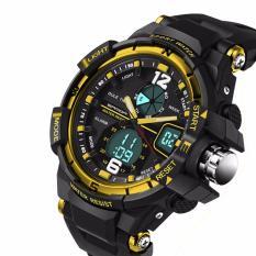 Đồng hồ thể thao hiển thị kim và số KB289 (màu đen phối vàng)
