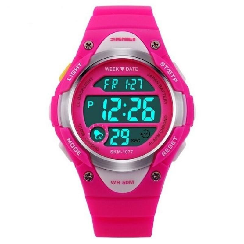 Đồng hồ thể thao LED Skmei 1077 (Hồng) bán chạy